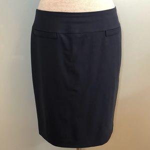 Talbots Petite Size 10 Navy Pencil Skirt